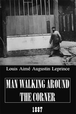 Man Walking Around a Corner