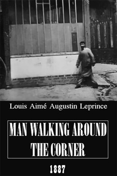 Man Walking Around a Corner