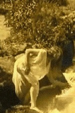 Nude Woman by Waterfall