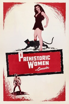 Prehistoric Women Cult Horror movie poster print 1950