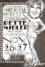 Bette Midler at the Continental Baths