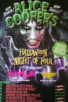 alice cooper halloween night of fear london