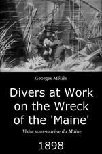 """Divers at Work on the Wreck of the """"Maine"""""""