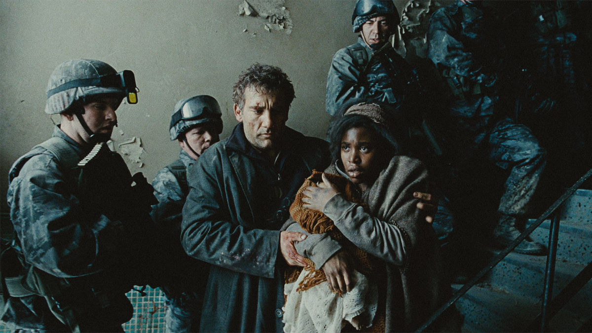 ‎Children of Men (2006) directed by Alfonso Cuarón ...