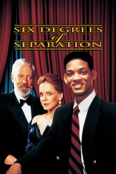 Capa de Six Degrees of Separation (1993), com Ian McKellen e Will Smith. (Foto: Divulgação)
