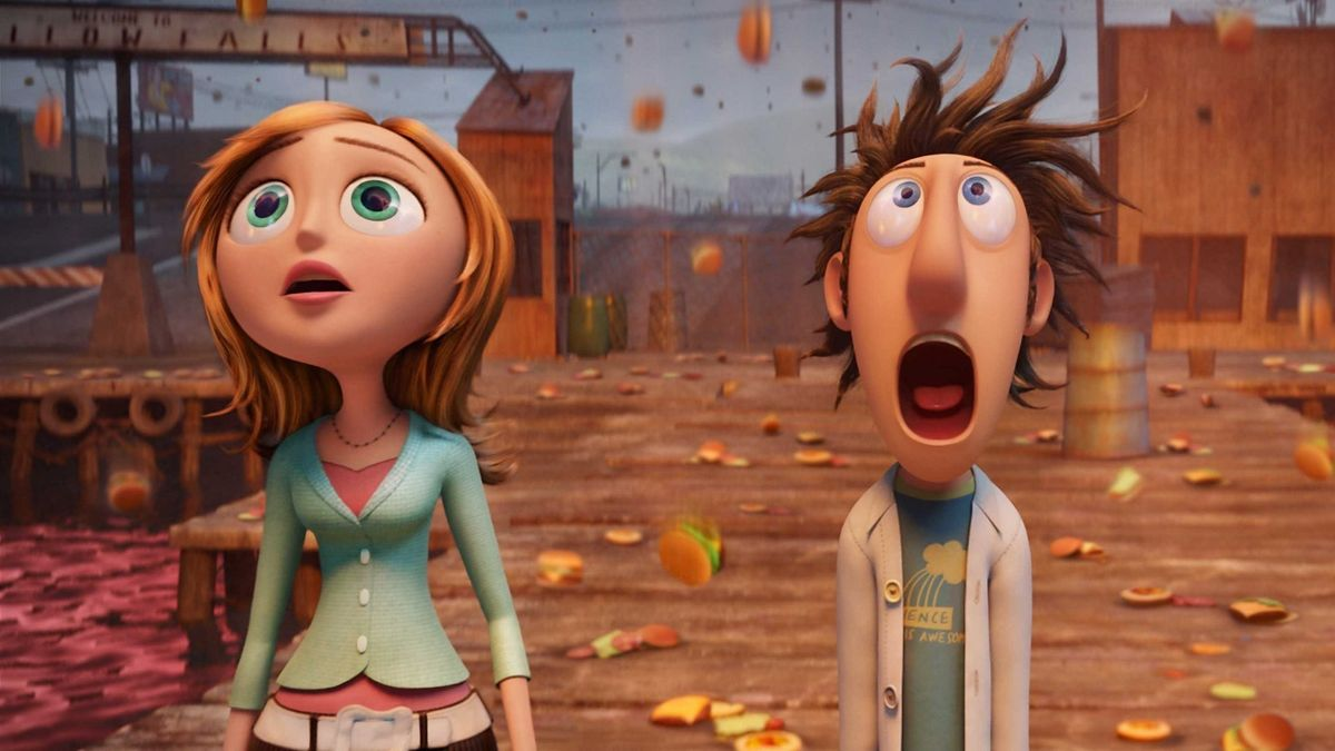 Image result for Cloudy With a Chance of Meatballs (2009)