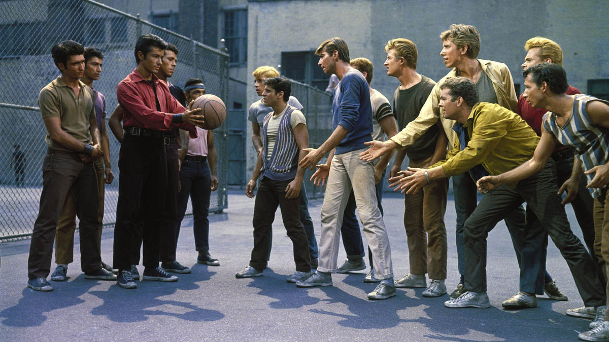 a review of the play west side story by jerome robbins Revivals of 'west side story' and 'blithe spirit' work, more or  and jerome  robbins took a very old love story and transplanted it to the streets.